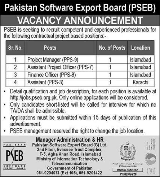 pseb-jobs-2020-islamabad-pakistan-software-export-board-apply-online