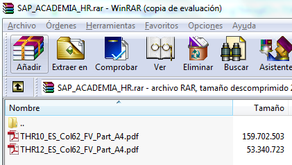 SAP THR10 y THR12