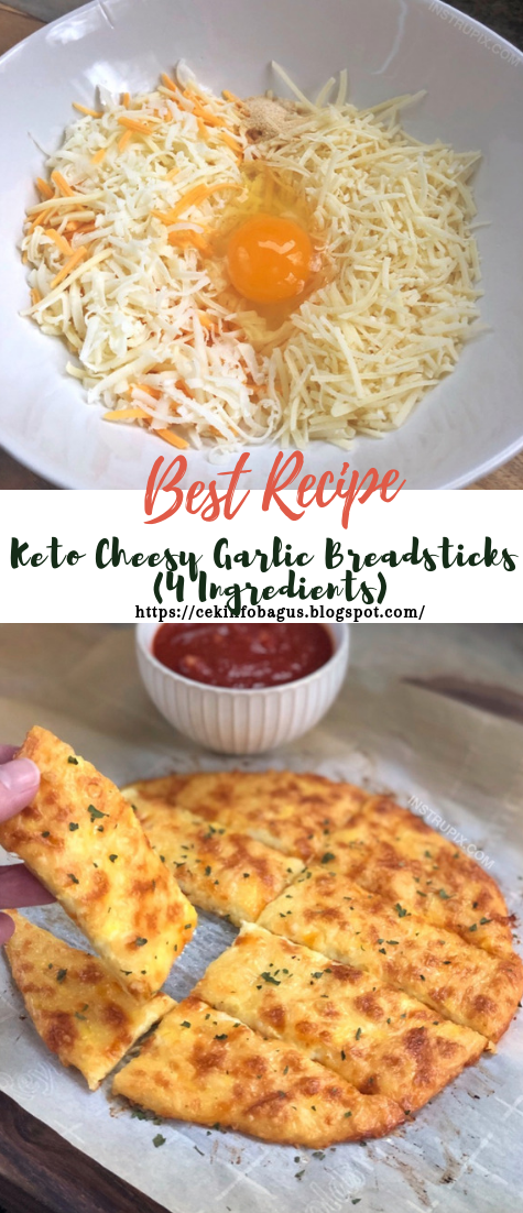 Keto Cheesy Garlic Breadsticks (4 Ingredients) #healthyfood #dietketo #breakfast #food