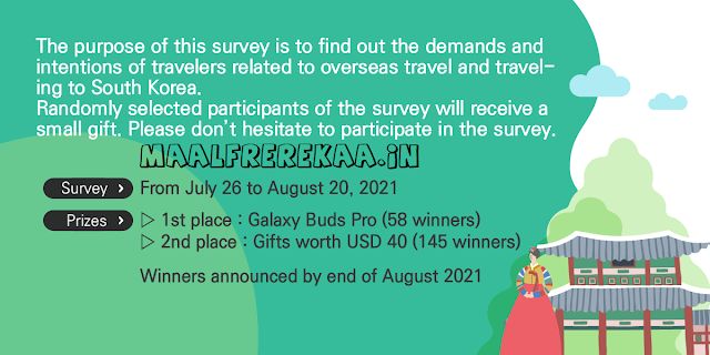 Korea Tourism Survey Win Samsung EarBuds