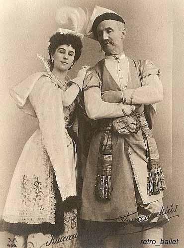 Matilda Kschessinska e o pai