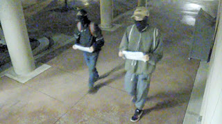 Suspects wanted in an hate crime investigation are seenin a surveillance camera image. (HRPS)