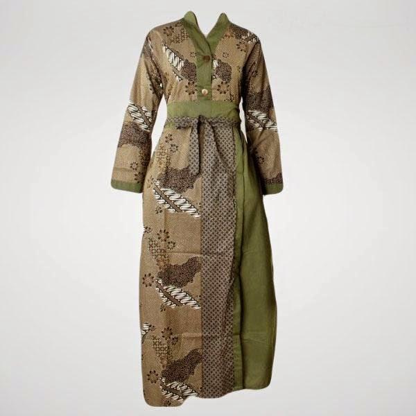 Model Baju Batik Kerja Muslim Modern