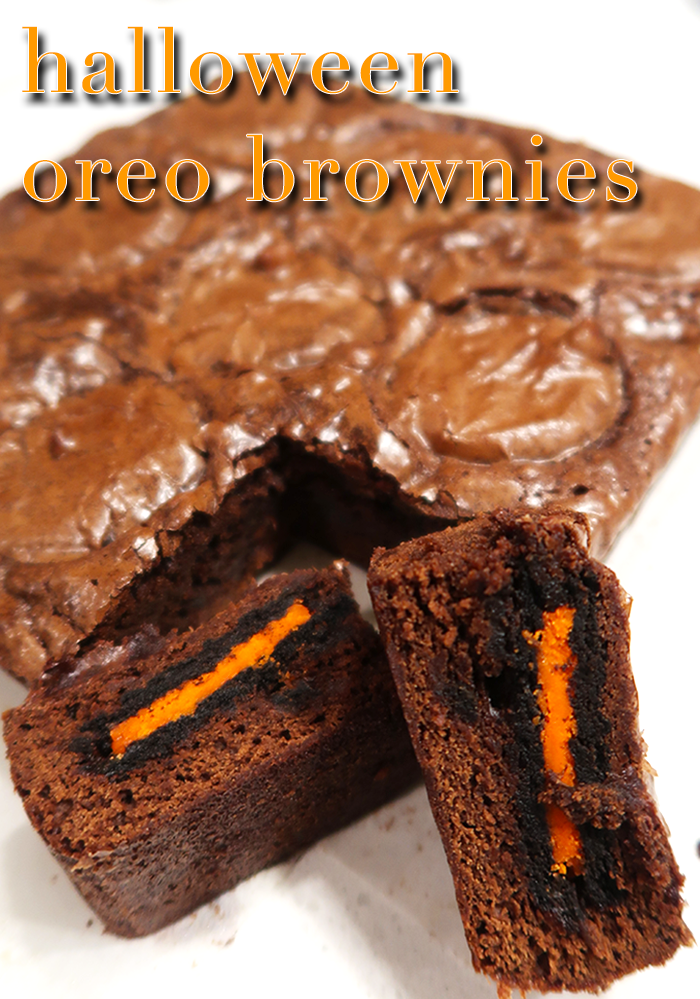 a style caddy, halloween Oreo brownies, Oreo brownies, boxed brownies, how to make boxed brownies better, how to make better boxed brownies, boxed brownie tips, boxed brownies tricks