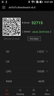 Skor antutu Zenfone 2 4GB/64GB