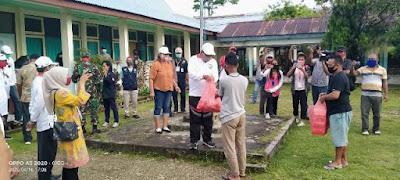 Penyerahan Bantuan Sembako kepada Pelaku Perjalanan