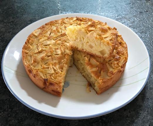 Gâteau norvégien aux pommes et à la vanille (Eplekake)