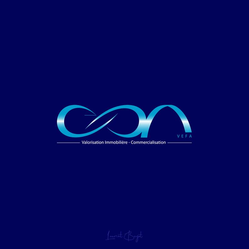 logo immobilier bleu premium
