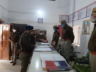 पुलिस अधीक्षक द्वारा थाना कोठी का किया गया वार्षिक निरीक्षण,दिए गये आवश्यक दिशा निर्देश