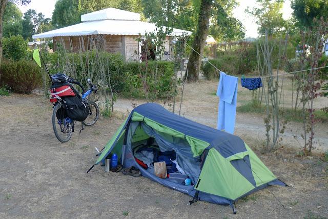 De Paris à la Rochelle en vélo couché, Camping du Bois Vert à Montsoreau