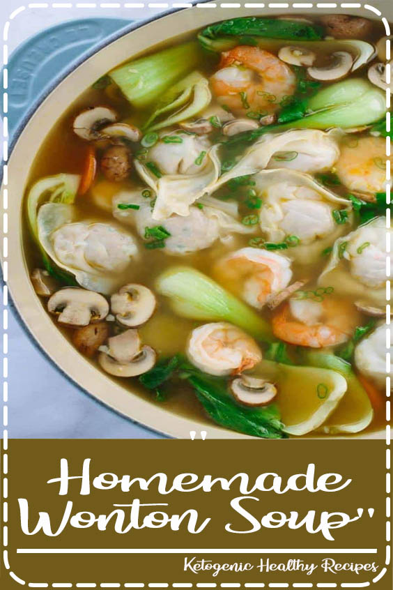 This authentic homemade wonton soup recipe is easy and fun to make Homemade Wonton Soup