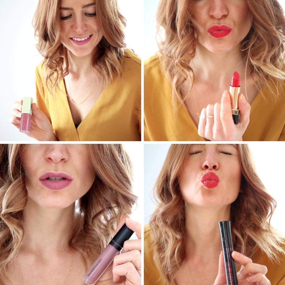 buxom va va plump, bare minerals luxe gen nude, best matte lipsticks, ysl rouge pur couture no 1 rouge