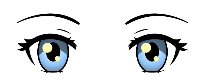 Gambar warna mata anime wanita