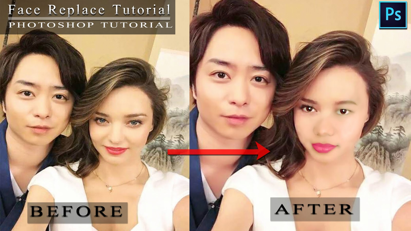 Photoshop Tutorial - How To Replace Face In Photoshop