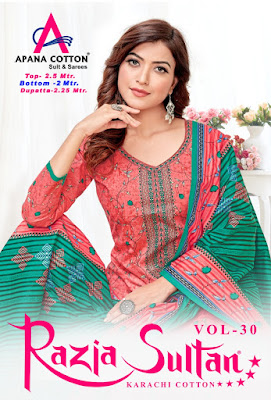 Apna Cotton Razia Sultan vol 30 Cotton Dress material