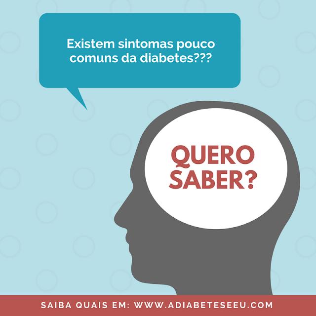 sintomas, diabetes, incomuns, quero saber
