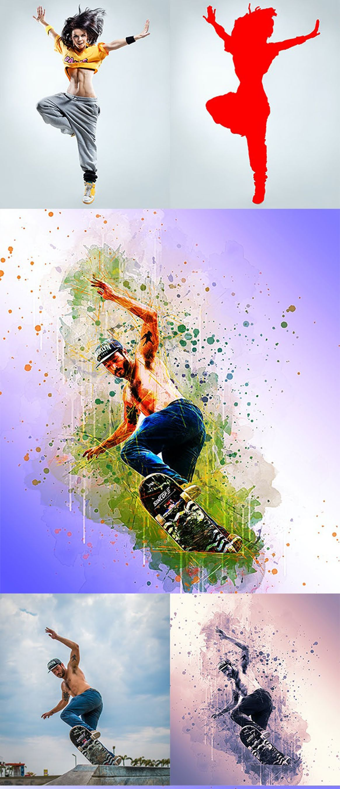 Watercolor Sketch Painting Photoshop Action 26882049
