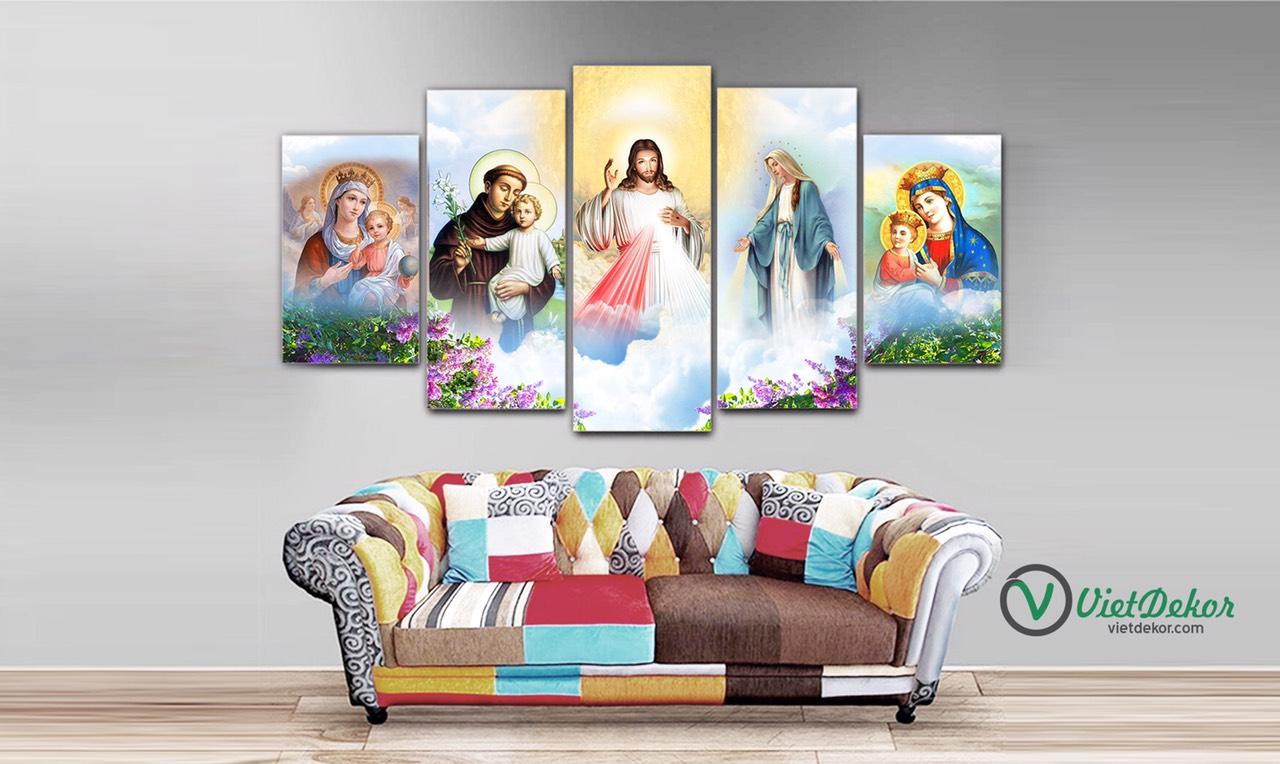 Tranh Công giáo Chúa Giê Su Đức Mẹ T40