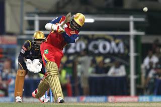 Chris Gayle 96 - KKR vs RCB 5th Match IPL 2015 Highlights