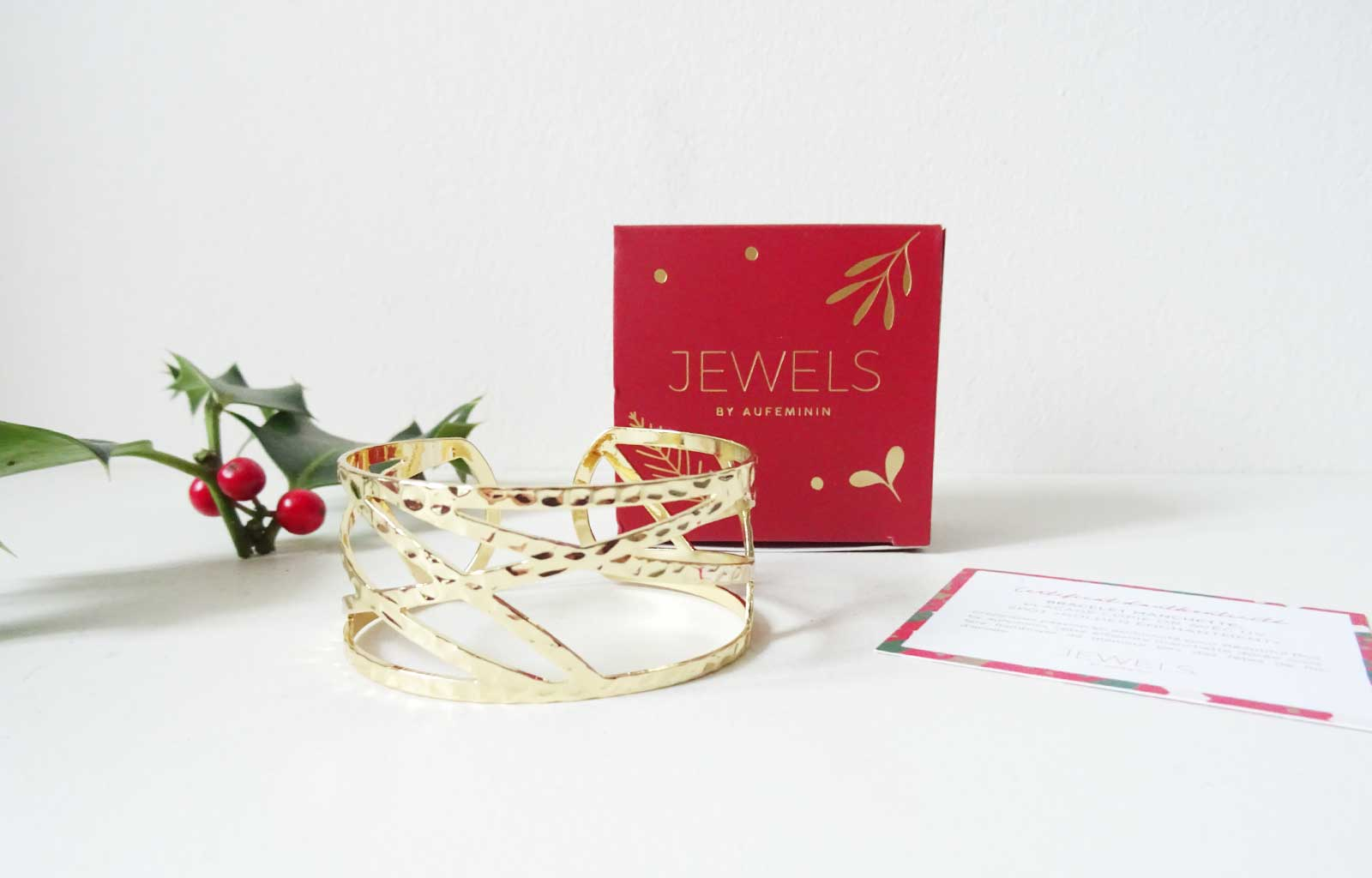 "beautiful box fairy christmas Bracelet Manchette ""Golden Enchantment"""