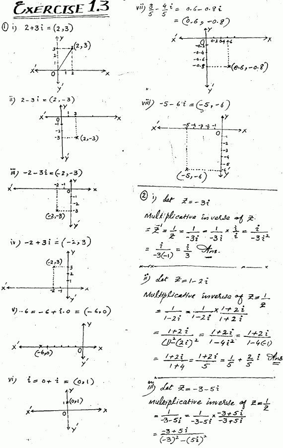 Exercise 1.3 Mathematics Fsc Part 1 First Year solved free Download ...