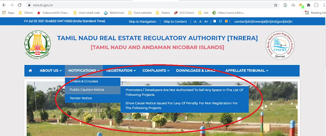 Public caution notice by RERA to avoid buying from builders