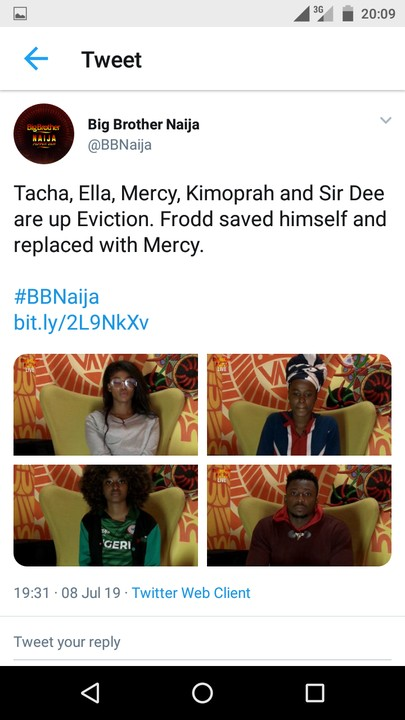 BBNaija: Tacha, Ella, KimOprah, SirDee, Mercy Up For Possible Eviction Sunday | Alabosi.com