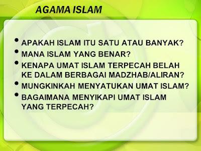 Apa Aliran Agama Islam Yang Paling Benar?