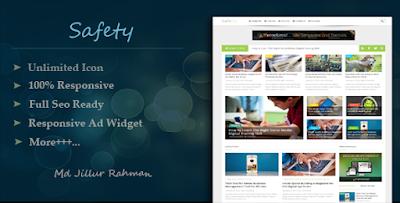 Safety v1.2 – Responsive MultiPurpose Blogger Template