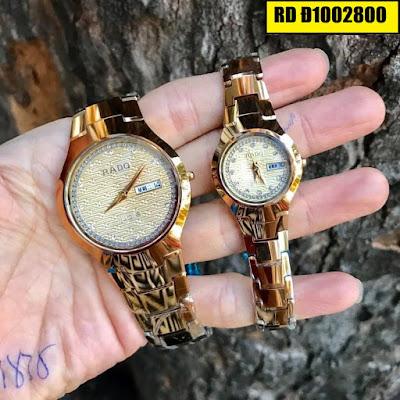 Đồng hồ cặp đôi Rado mặt tròn RD Đ1002800
