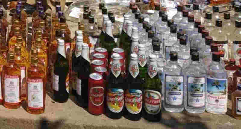 llegal liquor caught in Dhubri