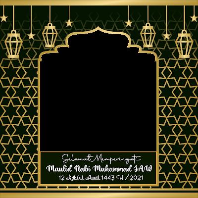twibbon selamat maulid nabi muhammad 1443 h 2021 - kanalmu