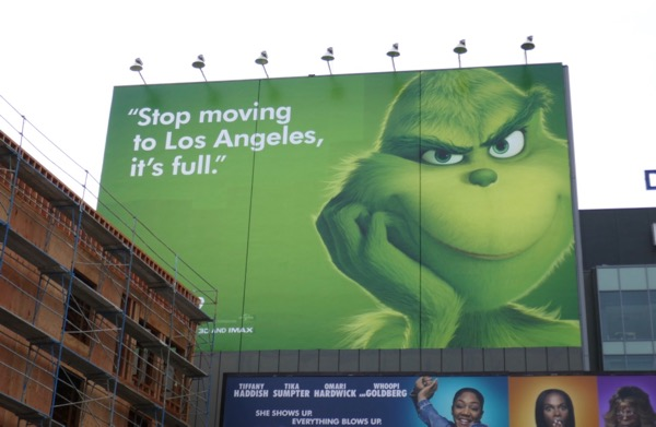 Grinch Stop moving LA its full billboard
