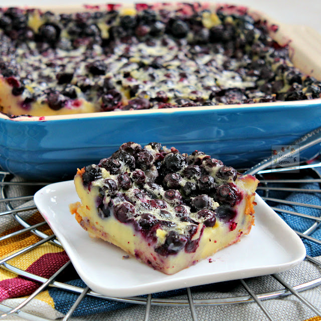 So easy -- simply dump the blueberries in the pan, cover in vanilla custard or flan batter then bake! This French berry dessert - Blueberry Clafoutis is the perfect vehicle for your favorite summer fruit!