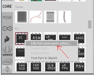 fritzing icのパーツエディタを起動