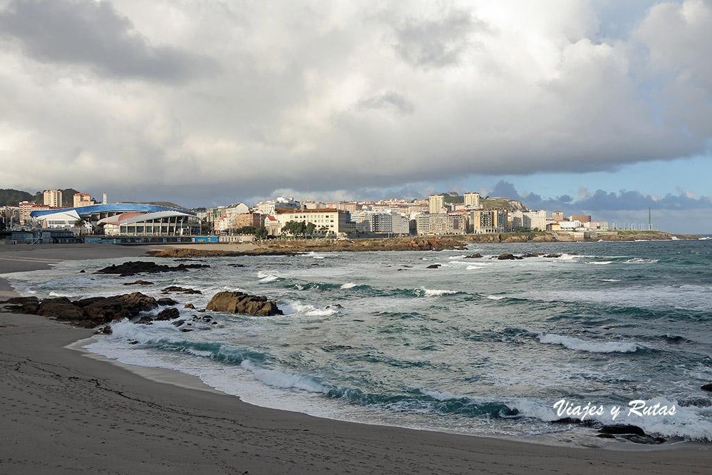Playa de Riazor, A Coruña