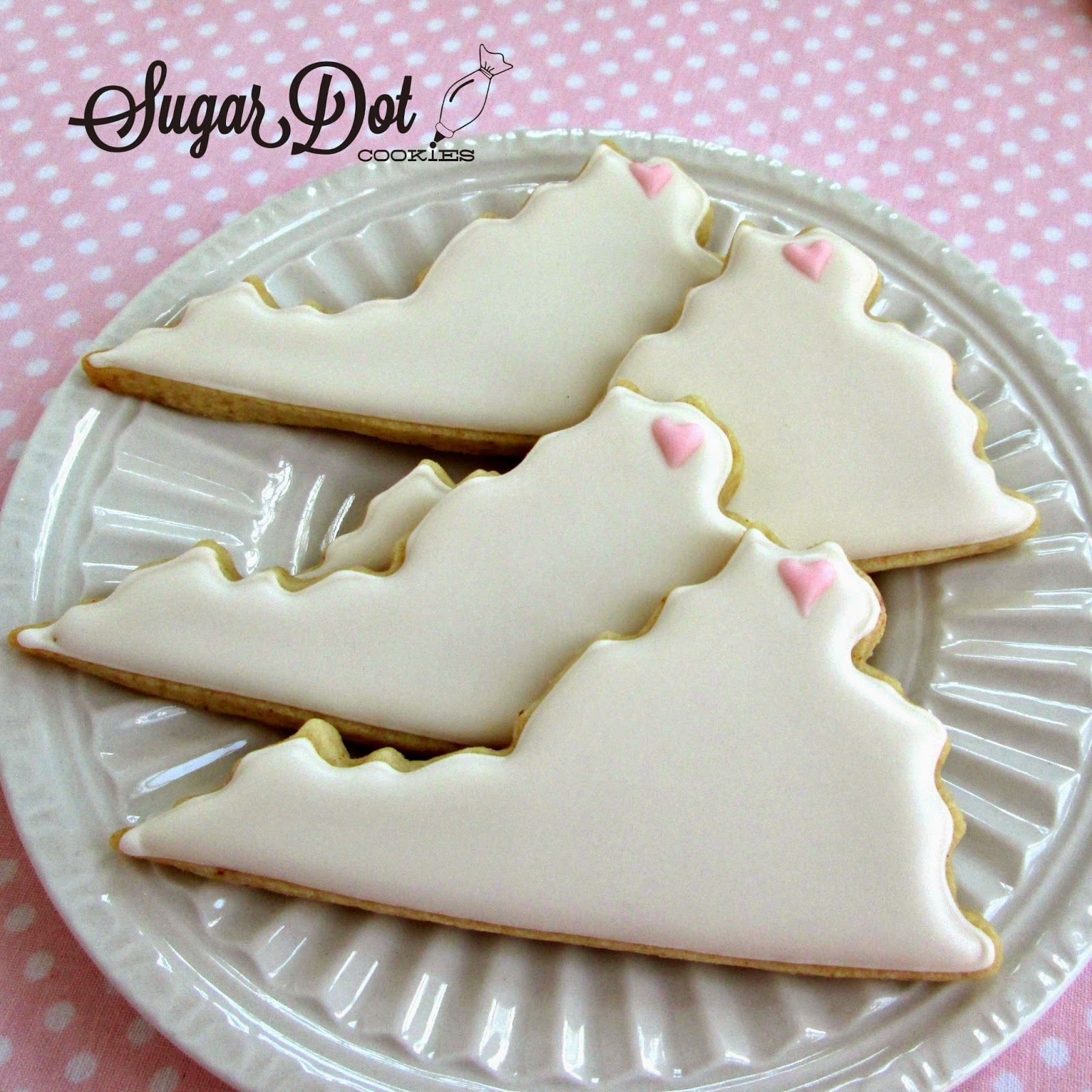 Sugar Dot Cookies: State Cookies with Heart
