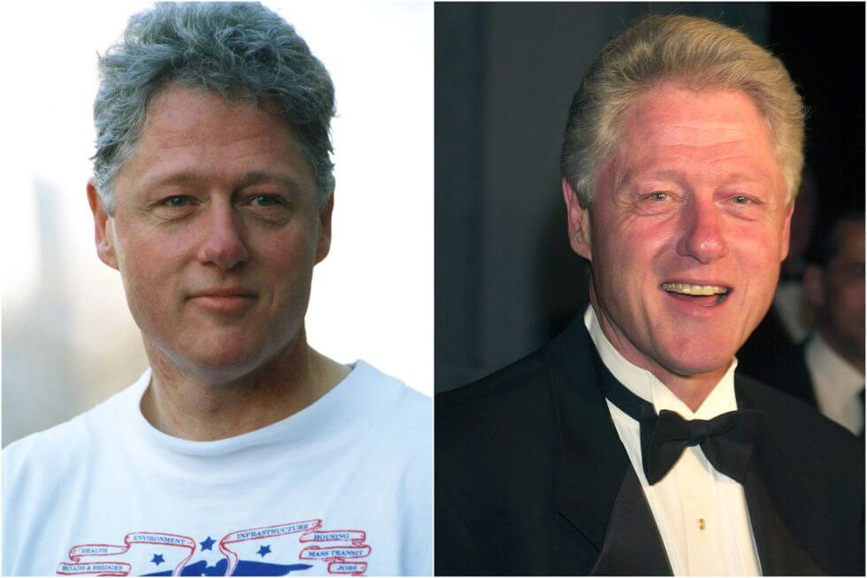 15 Before And After Photos Of US Presidents Depict How Their Job Transformed Them - Bill Clinton (1993-2001)