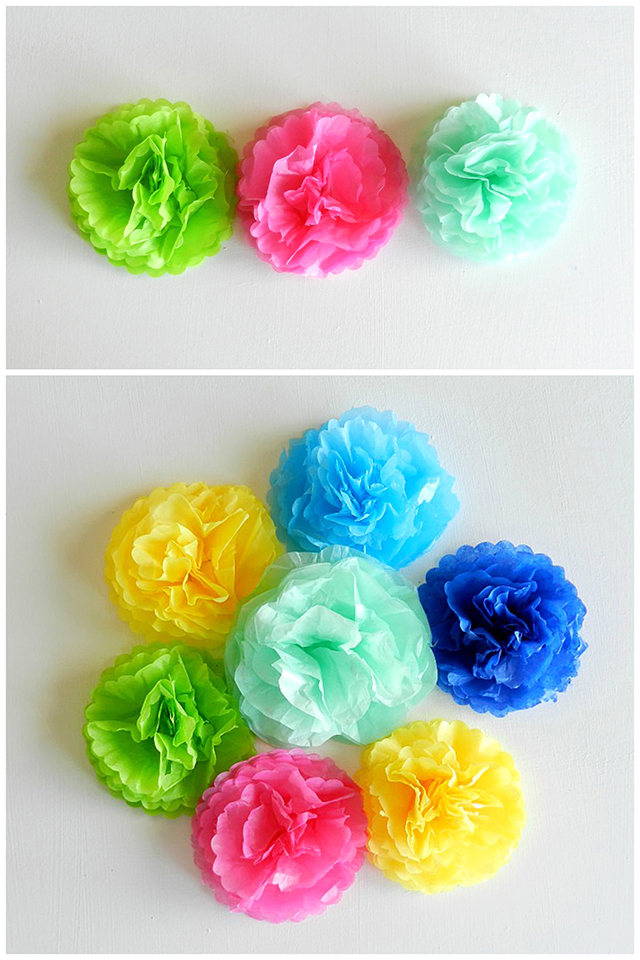 How to Make Mini Tissue Paper Flowers Spring Decor