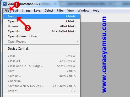 Buka Photoshop CS3, CS4, CS6, dan/atau CS lainnya