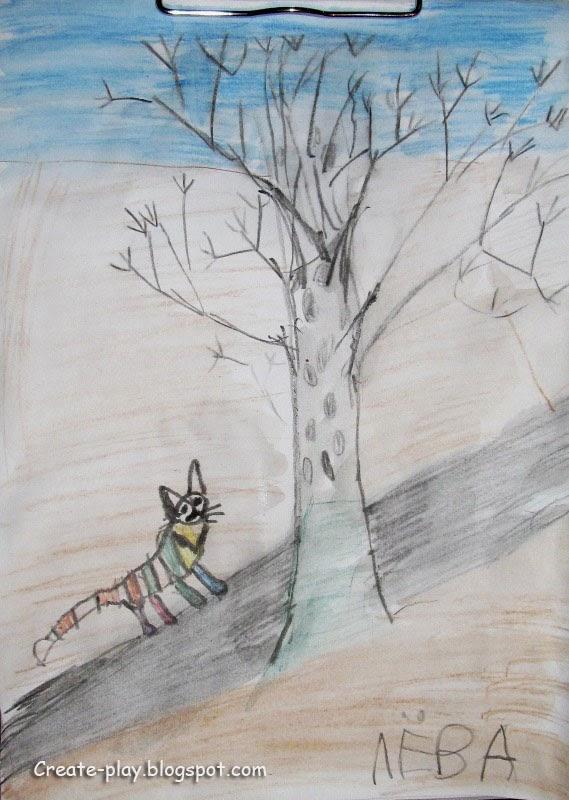 весна детский рисунок
