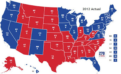 2012 Electoral College Results
