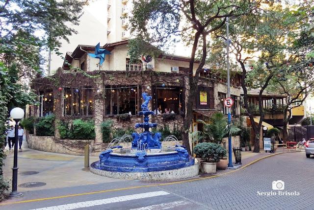 Vista ampla do belo Casarão da Pizzaria Famiglia Mancini - Bela Vista - São Paulo