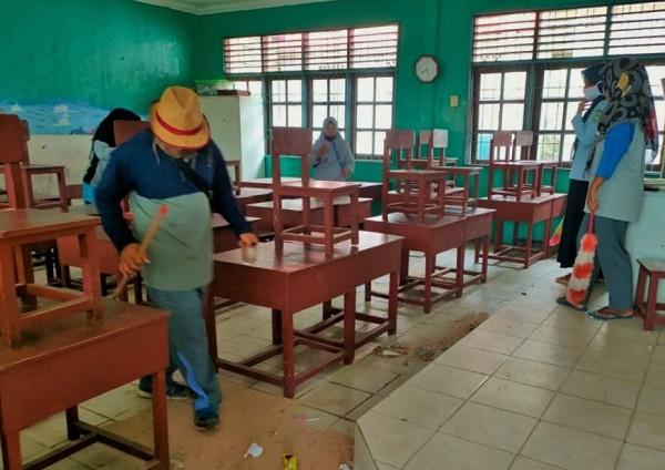 Sekolah di Pulau Buluh Batam, Prokes Belajar Tatap Muka Tahap Persiapan