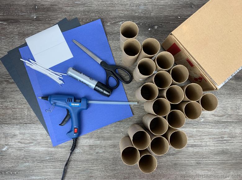 cardboard parking garage craft for kids
