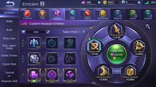 Fungsi Emblem Mobile Legend
