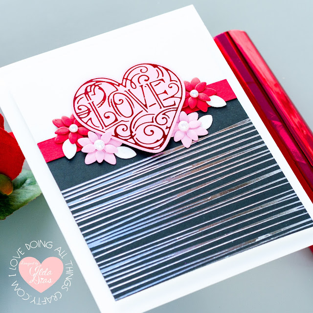 Calligraphy Hearts, Valentine Cards,Spellbinders,Glimmer Hot Foil Kit of the Month,glimmer foil,Card Making, Stamping, Die Cutting, handmade card, ilovedoingallthingscrafty,  how to,  Foil Stamping