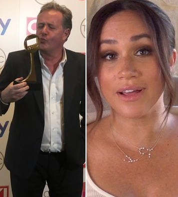 Piers Morgan credits Meghan Markle as he wins TV Presenter of the Year award