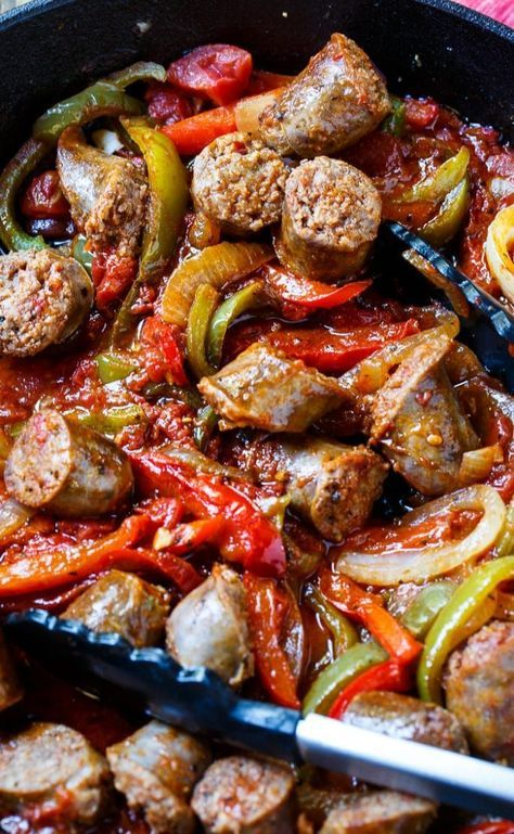Italian Sausage and Peppers #recipes #dinnerrecipes #dinnermeals #dinnermealstocook #food #foodporn #healthy #yummy #instafood #foodie #delicious #dinner #breakfast #dessert #lunch #vegan #cake #eatclean #homemade #diet #healthyfood #cleaneating #foodstagram