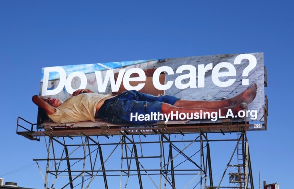 Do we care Healthy Housing LA billboard